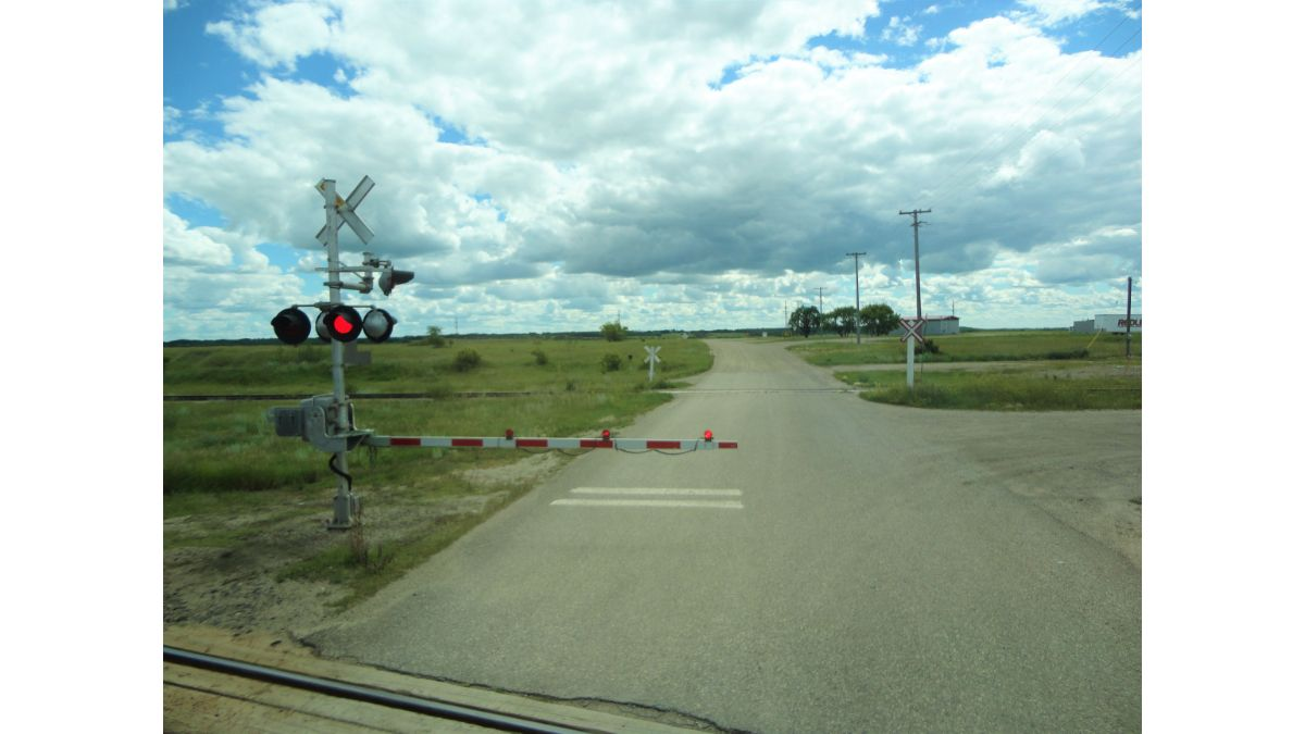Railroad Crossing in Prairies with Signal Down