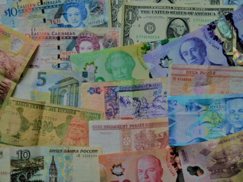 Collage of International Currencies