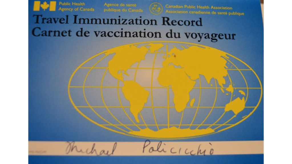Travel Immunization Record Booklet